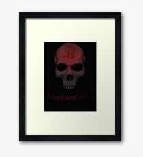 Blood and Fear Framed Print