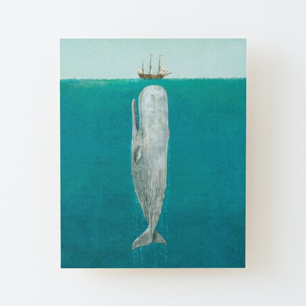 The Whale - Full Length  Wood Mounted Print