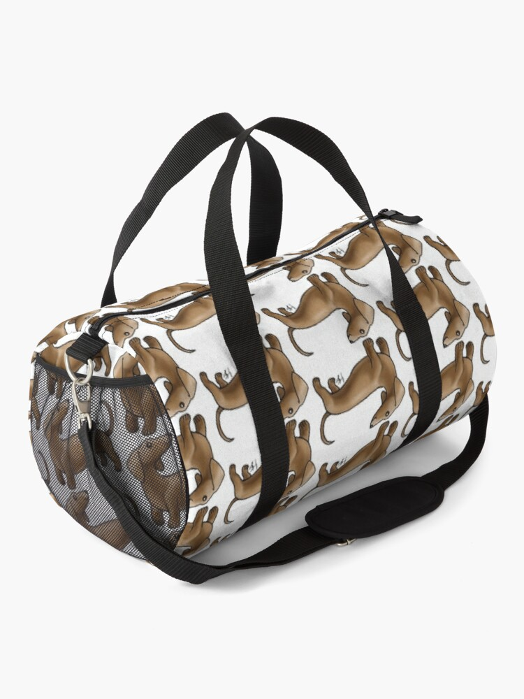 Alternate view of Smooth Coat Dachshund - Brown Duffle Bag