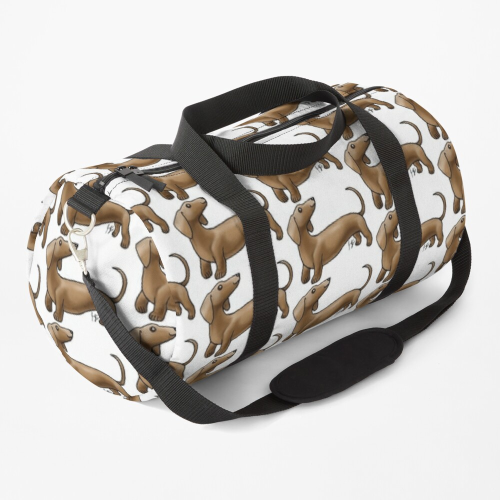 Smooth Coat Dachshund - Brown Duffle Bag