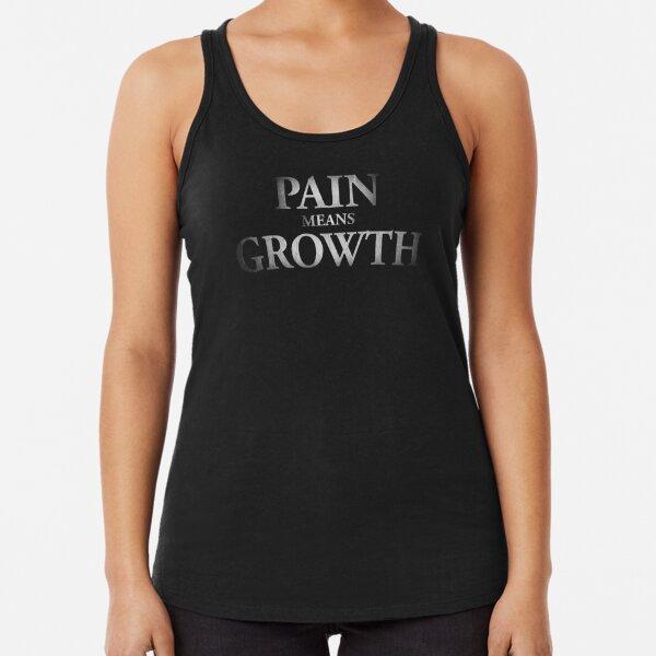 Motivation - Pain means Growth Racerback Tank Top