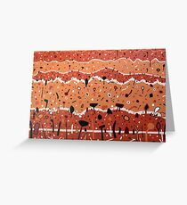 Clay Landscape Contours Greeting Card