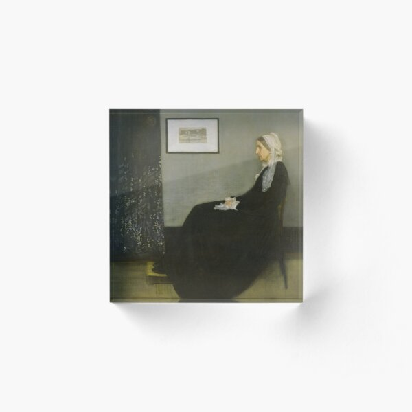 Painting Art, James McNeill Whistler Artist Paintings, Whistler's Mother Acrylic Block