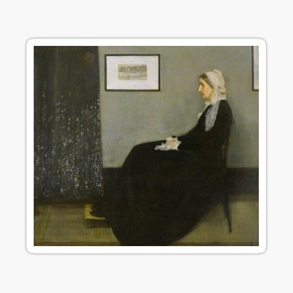 Painting Art, James McNeill Whistler Artist Paintings, Whistler's Mother Sticker