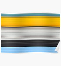 Yellow and Blue Pattern Poster