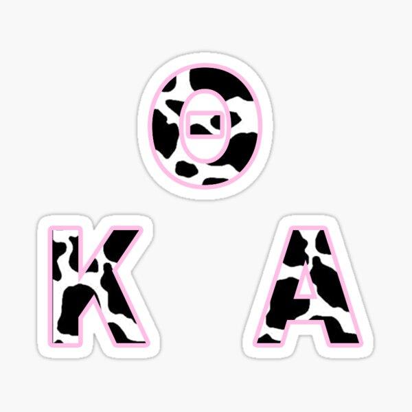 Greek Letter sticker pack cow Sticker