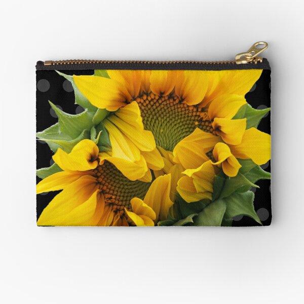 Blooming Sunflower Zipper Pouch