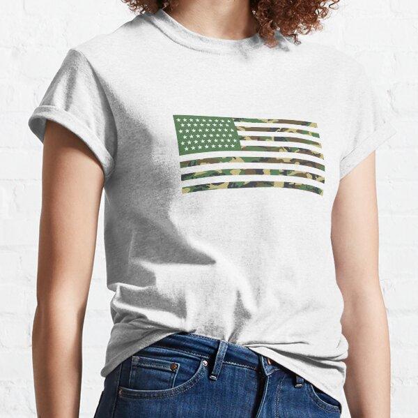 USA Flagge - Tarnung - Horizontal Classic T-Shirt