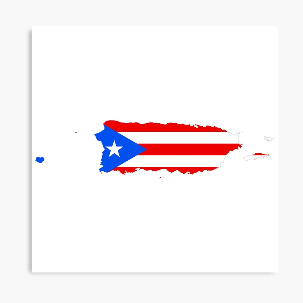 PUERTO RICAN FLAG, MAP OF PUERTO RICO