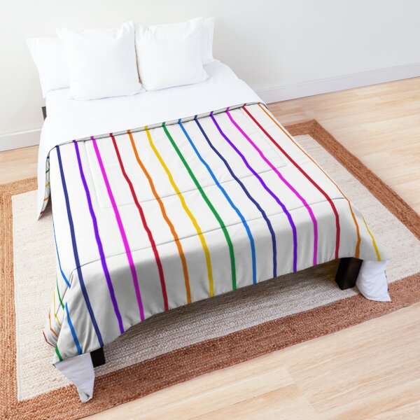 Narrow rainbow stripes Comforter