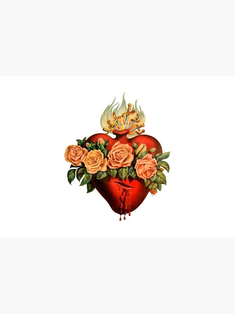 Catholic Immaculate Heart of Mary - White by tradcatfem