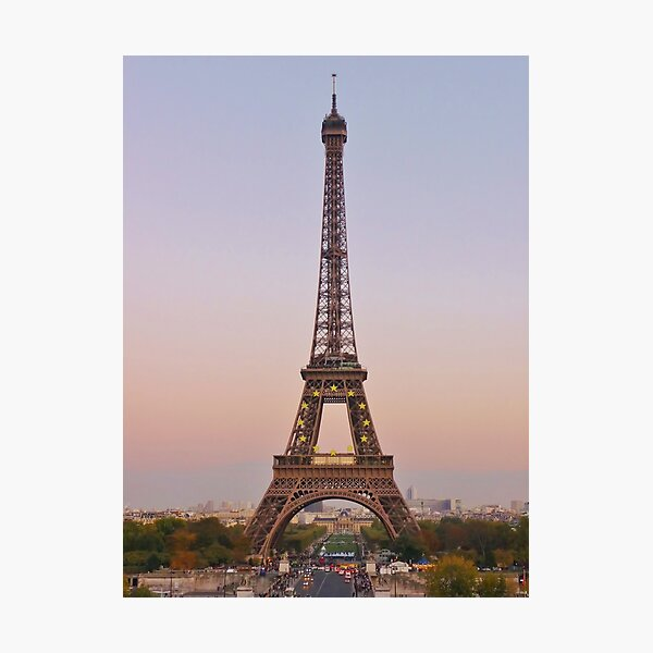 Twilight in Paris Photographic Print
