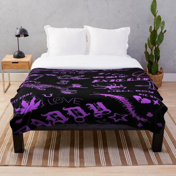 Lil Peep Pattern 2 x Neon Purple Lightning Throw Blanket