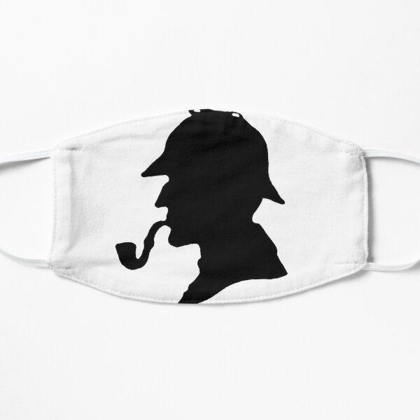 Silueta de Sherlock Holmes Mascarilla plana