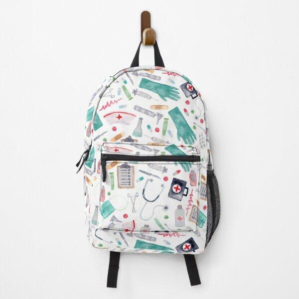 Medical Pattern | Doctor | Nurse | Watercolor Backpack