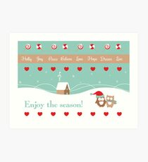 Enjoy The Season Art Print