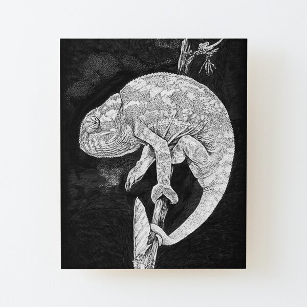 Chameleon Wood Mounted Print