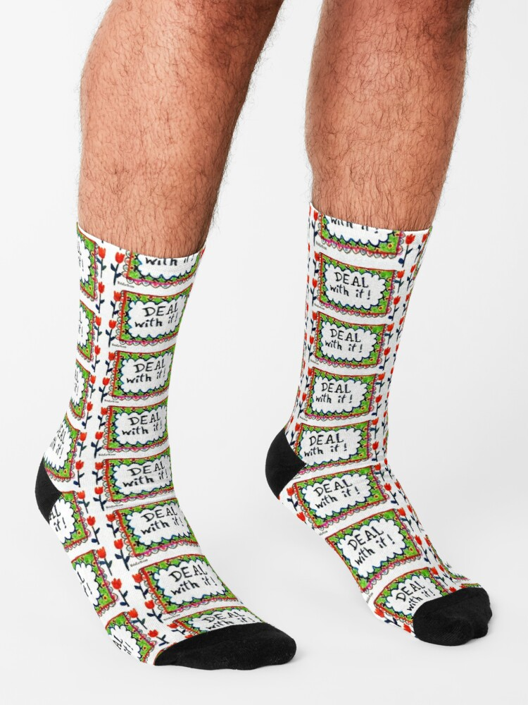 Alternate view of Deal With It  Socks