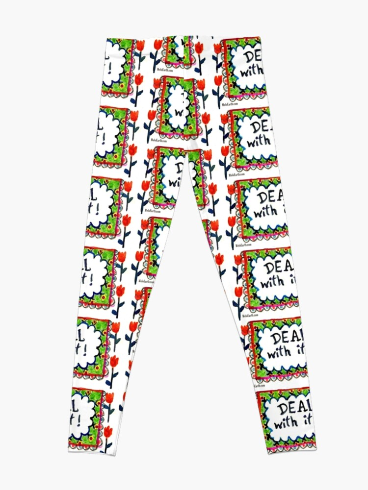 Alternate view of Deal With It  Leggings