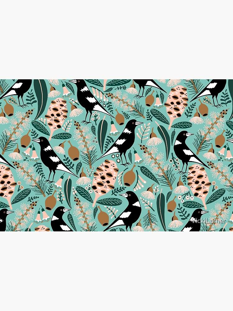 Australian bush magpies by VickiLarner