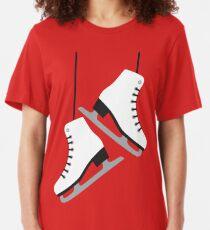 White female Skates Slim Fit T-Shirt