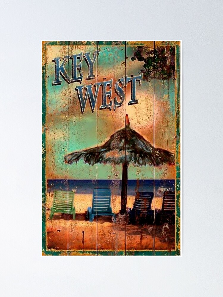 Alternate view of KEY WEST FLORIDA VINTAGE SIGN Poster