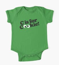 C is for Cookie One Piece - Short Sleeve