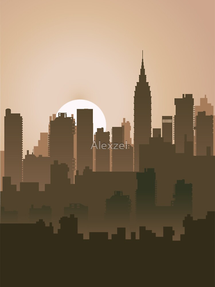 Picture of the city for iPhone by Alexzel