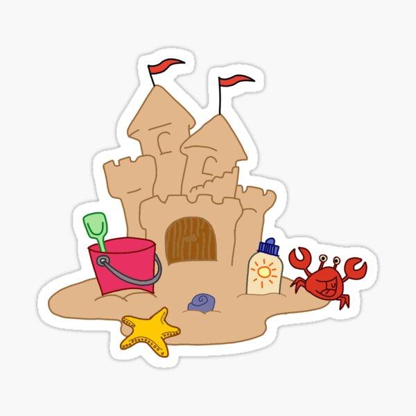 Sand Castle Sticker