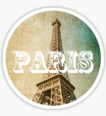 old fashioned paris The Eiffel Tower  Sticker