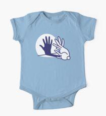 hand shadow rabbit Short Sleeve Baby One-Piece
