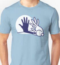 hand shadow rabbit Slim Fit T-Shirt