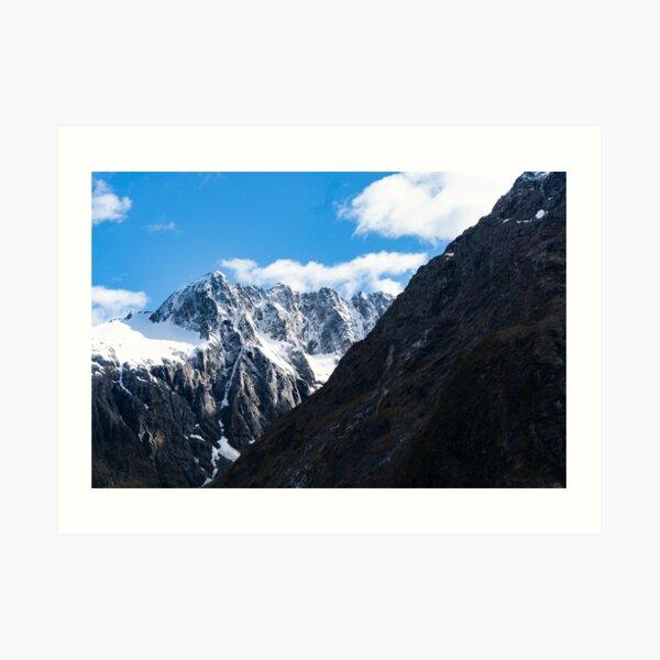 New Zealand Mountains Art Print