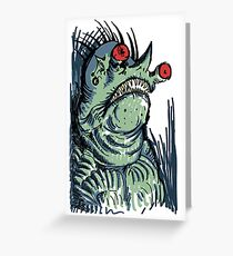 Scary Goblin Greeting Card