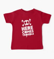 Here comes trouble Baby Tee