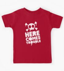 Here comes trouble Kids Tee