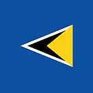 Saint Lucia Flag by pjwuebker