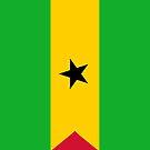 Sao Tome and Principe Flag by pjwuebker