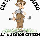 Golfer Senior Citizen by SportsT-Shirts