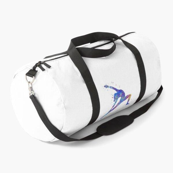 Gymnastics girl, watercolor gymnastics Duffle Bag