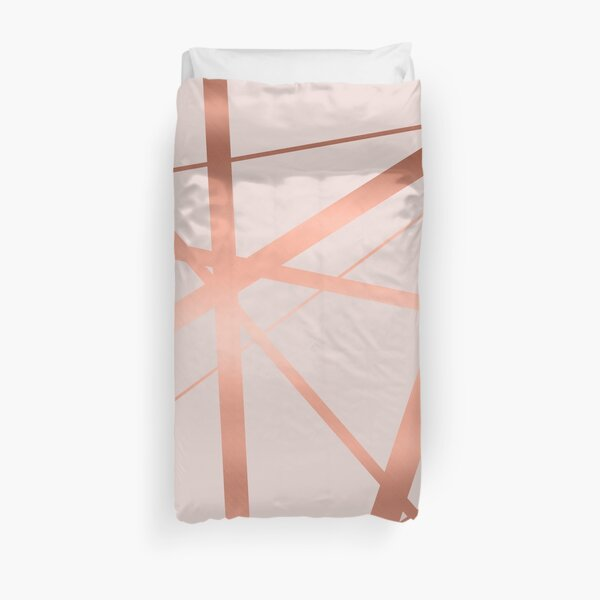 Pink and Copper Luxe Duvet Cover