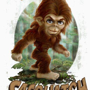 Grammy's Little Sasquatch Caricature by MudgeStudios