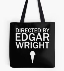 Directed by Edgar Wright (White) Tote Bag