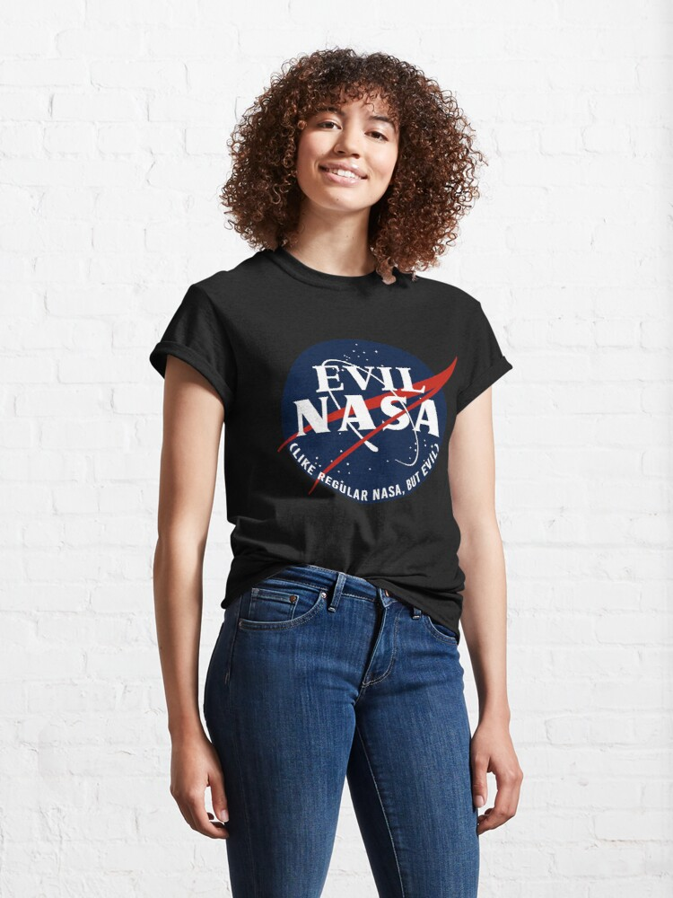 Alternate view of EVIL NASA (like regular nasa, but evil) Classic T-Shirt