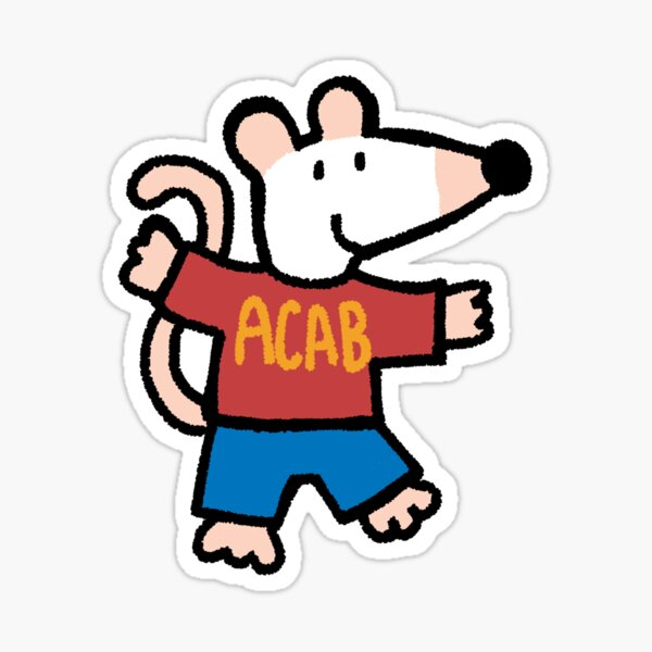 ACAB maisy mouse Sticker