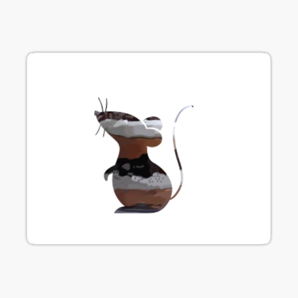Chocolate Mousse Mouse Sticker