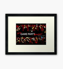 Game Party Bitches! Framed Print