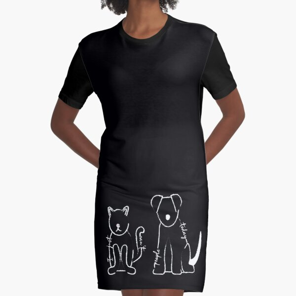 I Just Can't People Today Chalkboard Graphic T-Shirt Dress