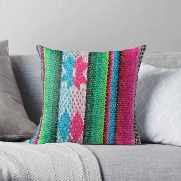 Colours of Peru Throw Pillow