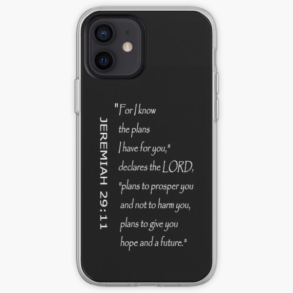 Bible Verse of Hope 29:11 iPhone Soft Case